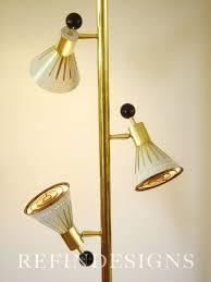 stiffel floor lamp glass shade hollywood regency gold lamps greek key mid century modern brass pierre