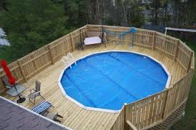 Magnetic Deck Plans Around Above Ground Pools with Wooden Privacy