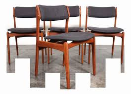 fearsome green upholstered dining chairs fers mid century dining chair set eric buch o d mobler mid