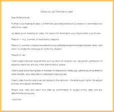 Employee Termination Employee Termination Template Employee