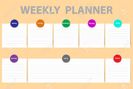 Week Chart Weekly Schedule With A Chart For Notes And White Charts With
