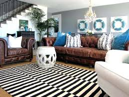 brown and white striped rug black and white striped rug for formal nautical living room plan with elegant brown sofa brown and white striped runner rug