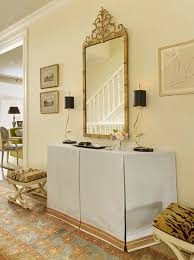 table for foyer. Black And Gold Foyer Table Skirted Transitional Entrance Palmer Weiss On Entryway Decorations For