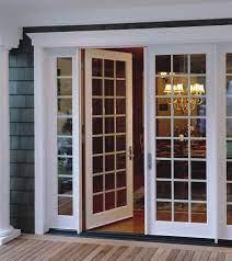 sliding glass door with french doors