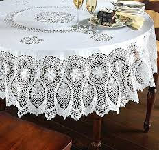 plastic flannel backed tablecloths alluring round