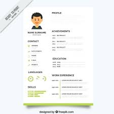 Resume Template With Photo Free Download Best Of Templates Free Download Word Document Green Resume Template Vector