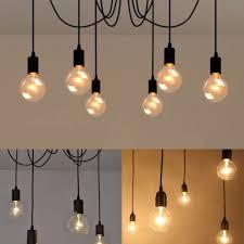 details about vintage multiple ajule diy ceiling spider lamp light pendant lighting uk