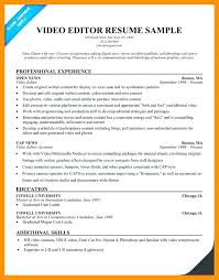 Video Editor Resume Sample - Tier.brianhenry.co