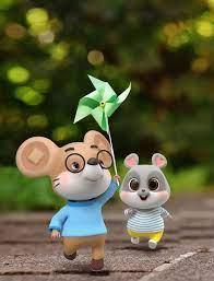 可愛鼠玩風車 in 2020