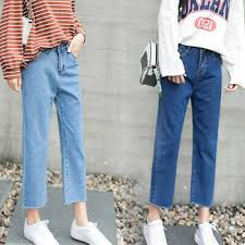 <b>Jeans</b> Korean <b>Women Harajuku</b> High Waist Straight Loose <b>Casual</b> ...