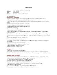 Collection Of Solutions Resume Facilities Coordinator Facility