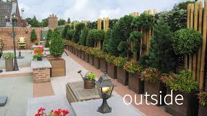 luxury artificial plants for outdoor on a rooftop terrace