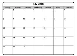 windows printable calendar 2018 july 2018 printable calendar monthly and weekly free calendar