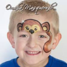adorable monkey face painting by sonya of omahamasquerade com