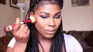Box Braids Hair Style how to 90s makeup and box braid hair styling tutorial youtube 4596 by wearticles.com
