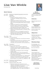 Director Of Operations/Quality Assurance Manager Resume samples
