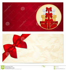 gift certificate voucher coupon template bow stock photo gift certificate voucher coupon template bow