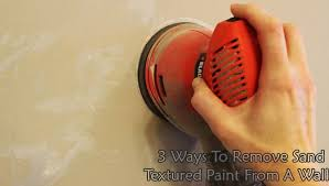 remove sand textured paint from a wall