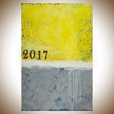 sunshine 2017 by qiqigallery 36 x 24 modern abstract painting abstract yellow blue gray black original art oil painting modern art home decor wall art