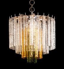 multicolored murano glass chandelier from mazzega 1960s 1