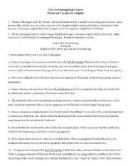 english worksheets tuck everlasting book projects english worksheet tuck everlasting book projects