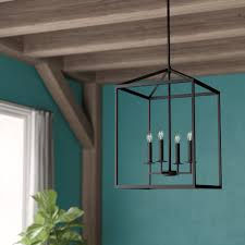 Odie Light Odie 4 Light Lantern Geometric Pendant
