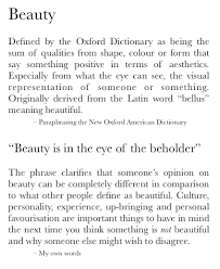 steps to writing definition of beauty definition of beauty