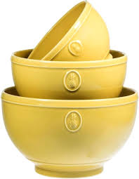 salad bowls sets set of 3 earthenware yellow pineapple mixing or serving bowls home essentials salad bowl sets wood best wooden salad bowl sets