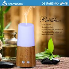 China Aromacare Bamboo <b>Mini USB Ultrasonic Air</b> Humidifier ...
