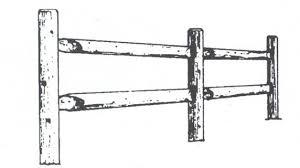 farm fence drawing. Solid Board Privacy Wood Fence Slant Ear Straight On Top Farm Drawing