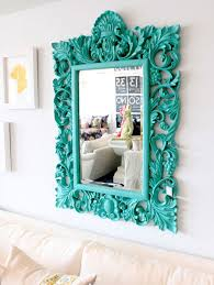 turquoise bedroom accessories.  Accessories Turquoise Room Ideas An Ornate Mirror Has A Modern Edge When Painted In  Bright Turquoise Intended Bedroom Accessories C