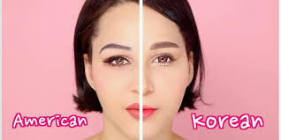 a mixed race your living in korea shows the difference between korean and american makeup