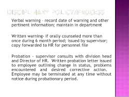 Written Verbal Warning Sample Hr Written Warning Template Grupofive Co