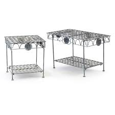 woven metal furniture. Pair Of Woven Metal Patio Tables : EBTH Furniture T
