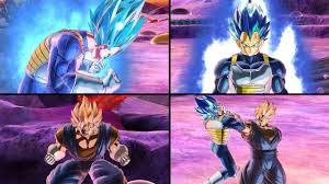 DBXV2: <b>Anime Style</b> SSBE Vegeta <b>Transformation</b> & Vegito(Buu ...