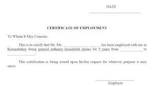 Employment Certificate Template Best 44 Free Sample Work Permit Certificate Templates Printable Samples