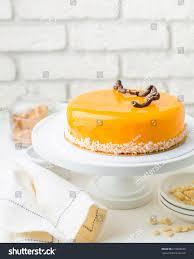 Photo Carrot Honey Mousse Cake Cafe Stock Photo Edit Now 619808258