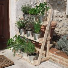 3 Tier Wooden Flower Stand Herb Plant Pot Shelves Garden Patio Wall Mounting