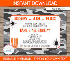 invitation party templates nerf party invitations nerf invitations birthday party