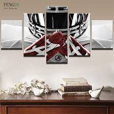 >5 piece alabama crimson tide rugby canvas paintings wall art sale  alabama crimson tide player rugby it make your day