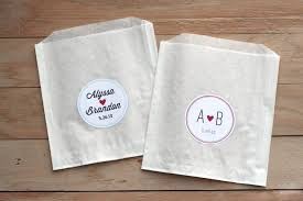 paper wedding favor bags. 25 personalized wedding stickers / favor bags custom paper cookie sticker shower a