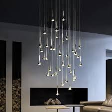 Led Multi Light Pendant Rain Multi Light Pendant Round Pendant Light Modern