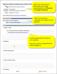 Outlook Meeting Agenda Template Sample Management Team Meeting Agenda Template Meeting
