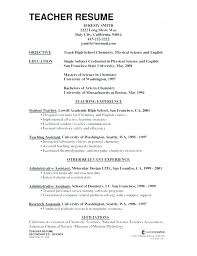Resume Examples For Teaching Top Resume Sample For English Teacher