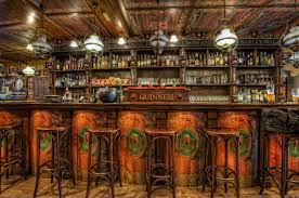 old western home bars | ... Chairs Ceiling HDR Design Wooden Bar room  wallpaper