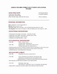 Cv Samples For Students Inspirational Resume Template For College