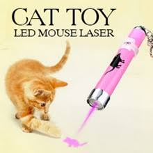 7.8x1.3cm LED Pink <b>Funny Cat Light</b> Laser Toys Electronic Pet ...