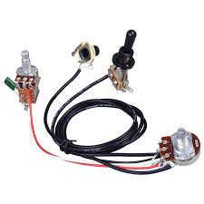 online buy whole guitar wiring harness from guitar electric guitar wiring harness prewired kit 3 way toggle switch 1 volume 1 tone 500k pots