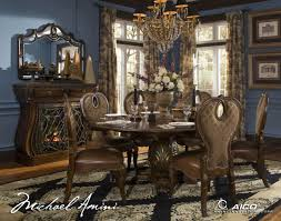 Michael Amini Living Room Set The Sovereign Round Dining Table By Michael Amini D2d Furniture Store