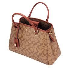 Coach Signature Small Margot Carryall Crossbody Bag Saddle   Khaki   Gold   Brown   F34608